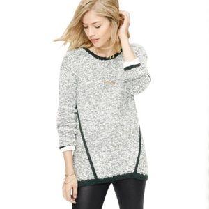Lou & Grey Tunic Sweater Fuzz Stripe Pullover Top